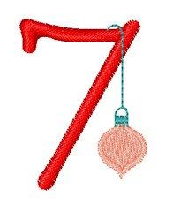 Christmas Holiday Font 7 embroidery design