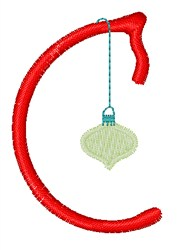 Christmas Holiday Font C embroidery design