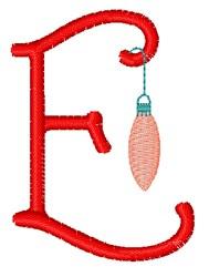 Christmas Holiday Font E embroidery design