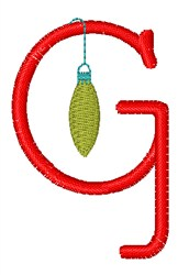 Christmas Holiday Font G embroidery design