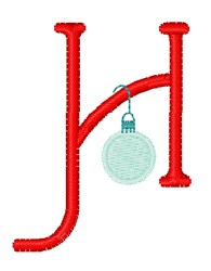 Christmas Holiday Font H embroidery design