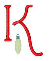 Christmas Holiday Font K embroidery design
