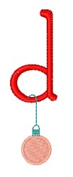 Christmas Holiday Font d embroidery design