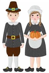 Pilgrims embroidery design