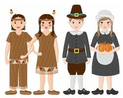 Thanksgiving Children embroidery design