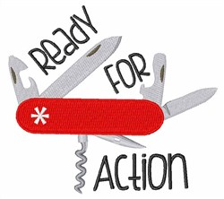Ready For Action embroidery design