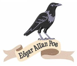 Edgar Allan Poe embroidery design
