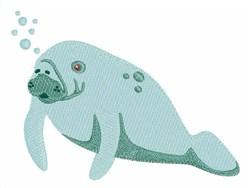 Sea Cow embroidery design