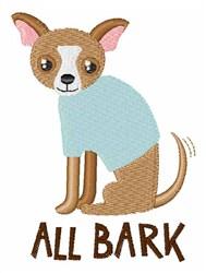 All Bark embroidery design