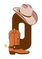 Rodeo Cowboy Font 0 embroidery design
