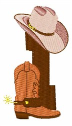 Rodeo Cowboy Font 1 embroidery design