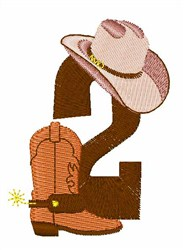 Rodeo Cowboy Font 2 embroidery design