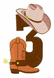 Rodeo Cowboy Font 3 embroidery design