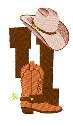 Rodeo Cowboy Font 4 embroidery design