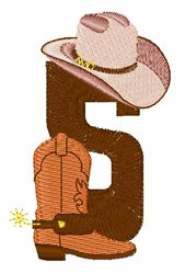 Rodeo Cowboy Font 5 embroidery design