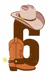 Rodeo Cowboy Font 6 embroidery design
