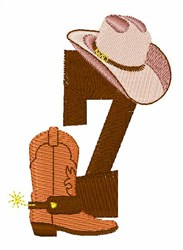 Rodeo Cowboy Font 7 embroidery design