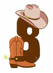 Rodeo Cowboy Font 8 embroidery design