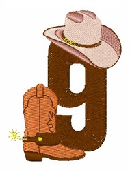Rodeo Cowboy Font 9 embroidery design