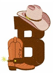 Rodeo Cowboy Font B embroidery design
