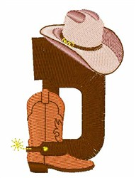 Rodeo Cowboy Font D embroidery design