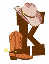 Rodeo Cowboy Font K embroidery design