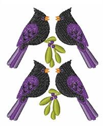 Blackbirds embroidery design