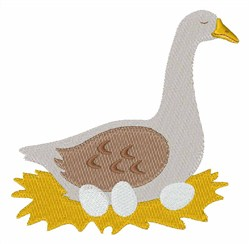 Laying Goose embroidery design