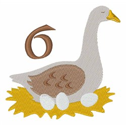 6 Geese embroidery design