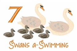 7 Swans a Swimming embroidery design