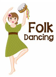 Folk Dancing embroidery design
