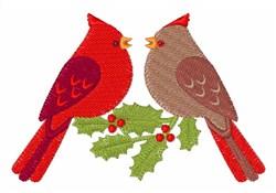 Holly Birds embroidery design