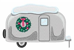 Christmas Trailer embroidery design