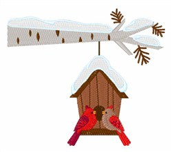 Winter Birdhouse embroidery design