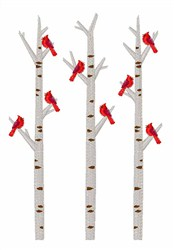 Cardinals In Trees embroidery design