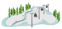 Ski Lift embroidery design