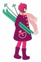 Ski Girl embroidery design