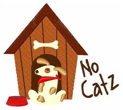 No Catz embroidery design