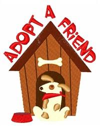 Adopt A Friend embroidery design