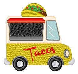 Taco Truck Food embroidery design