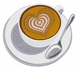 Latte With Heart embroidery design