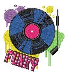 Funky Music embroidery design