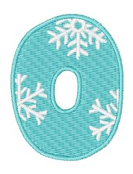 Snowflake Font 0 embroidery design