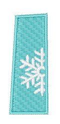 Snowflake Font 1 embroidery design