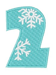 Snowflake Font 2 embroidery design
