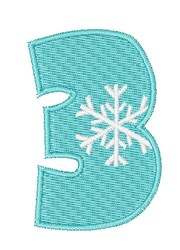 Snowflake Font 3 embroidery design