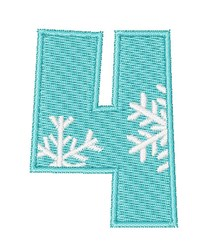 Snowflake Font 4 embroidery design