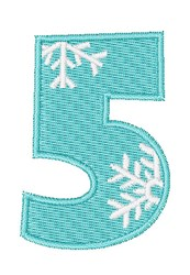 Snowflake Font 5 embroidery design