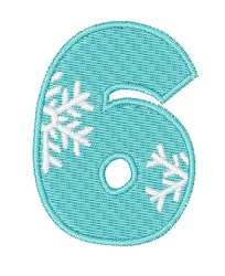 Snowflake Font 6 embroidery design
