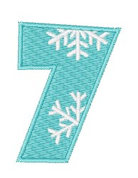 Snowflake Font 7 embroidery design